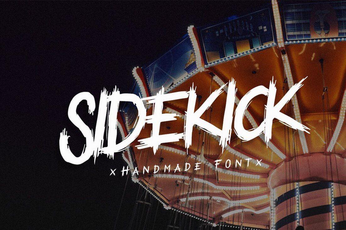 SideKick 60+ Best Big, Poster Fonts of 2019 design tips