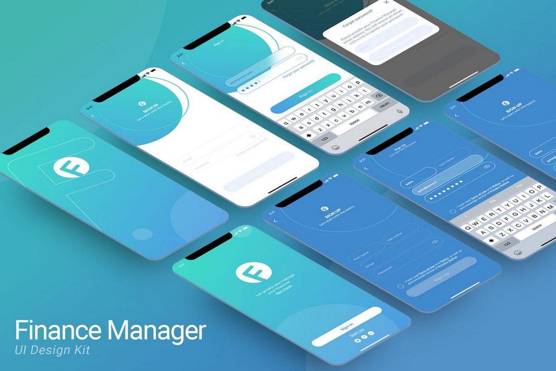 SignIn SignUp Mobile Ui Sketch Template