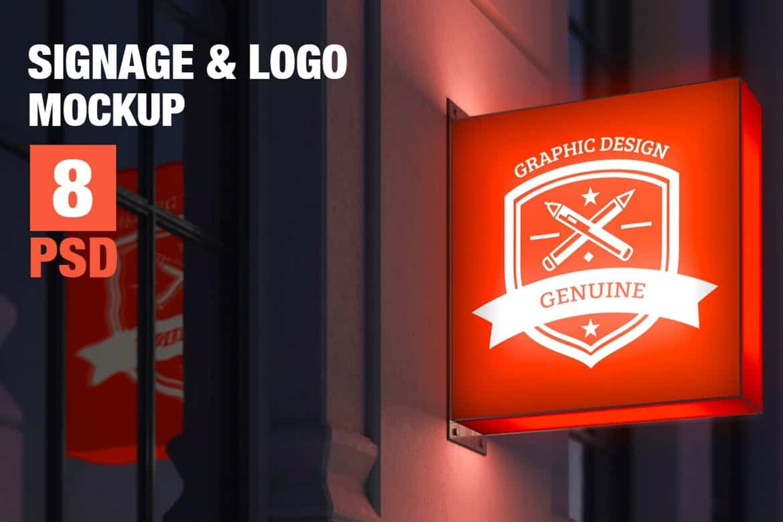 Signage-Logo-Mock-up 100+ Logo Mockup Templates (PSD & Vector) design tips