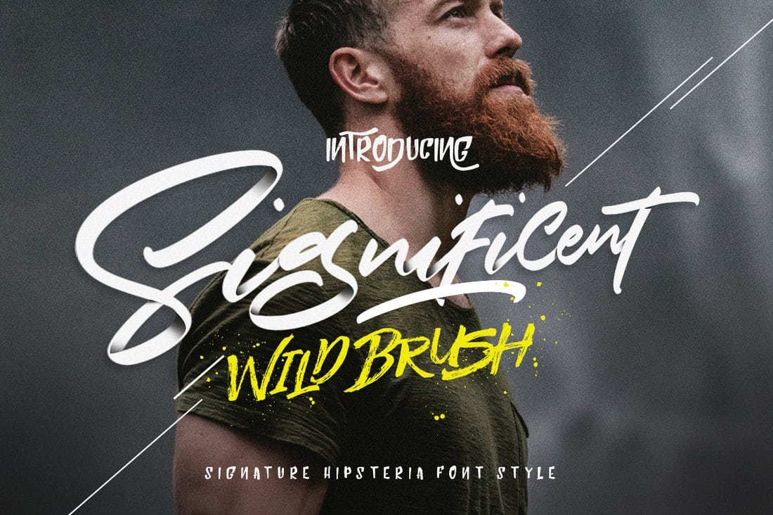 Significent-Wild-Brush 60+ Best Free Fonts for Designers 2019 (Serif, Script & Sans Serif) design tips