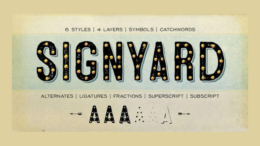 Signyard - Free 3D Font Family