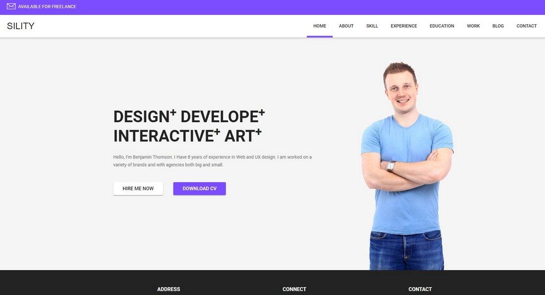 Sility - vCard & Resume HTML Template