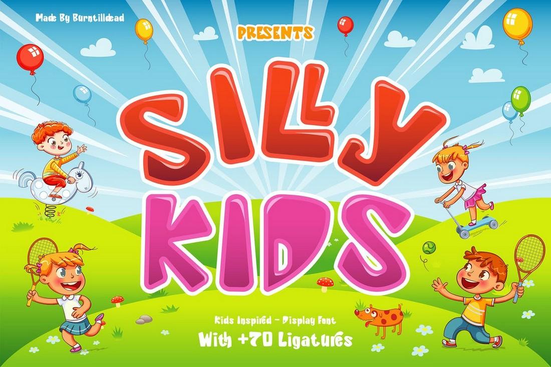 Silly Kids - Fun Cartoon Font