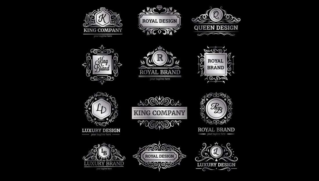 Silver-Luxury-Brand-Logo-Templates 20+ Best Free Logo Templates design tips