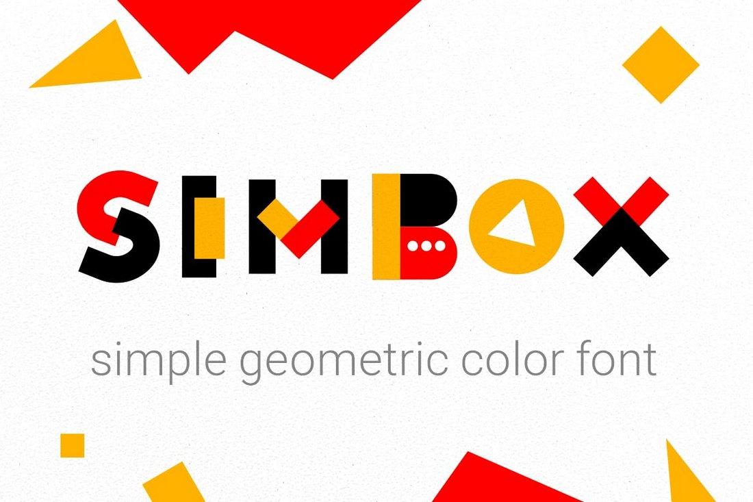 Simbox - Geometric Color Font