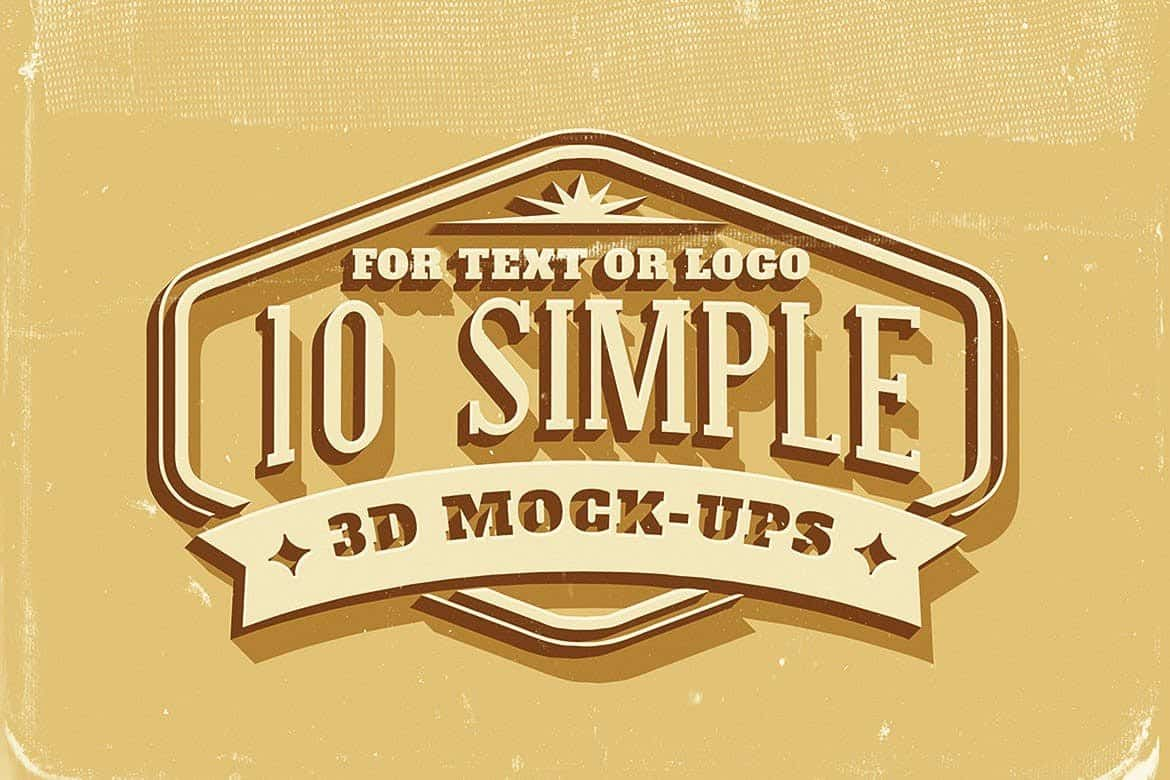 Simple 3d text and logo effects