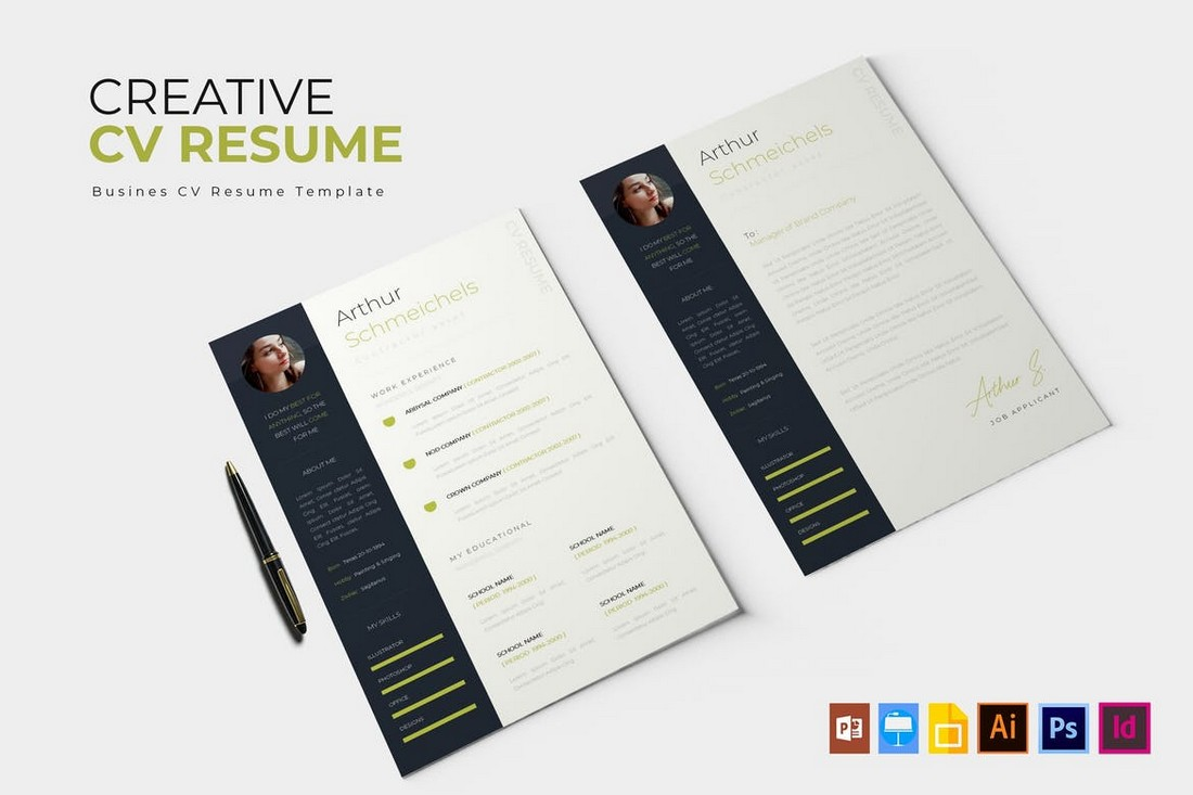 Simple Apple Pages Resume Template