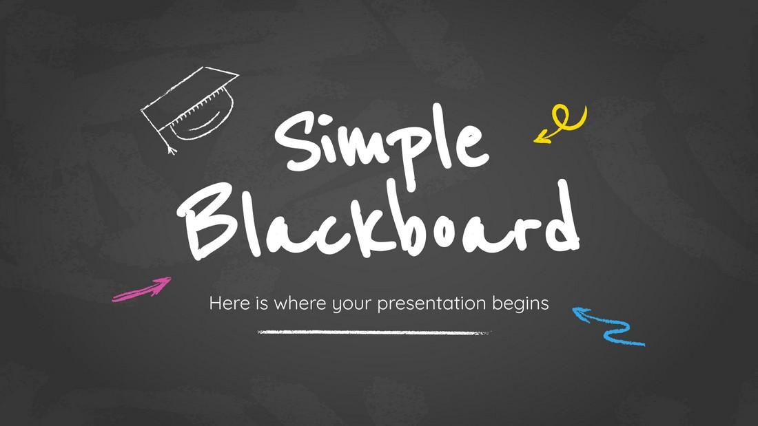 Simple Blackboard - Free Google Slides Theme