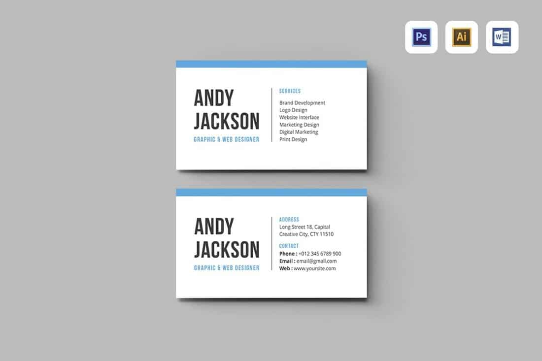 Vertical Business Card Template Word from designshack.net