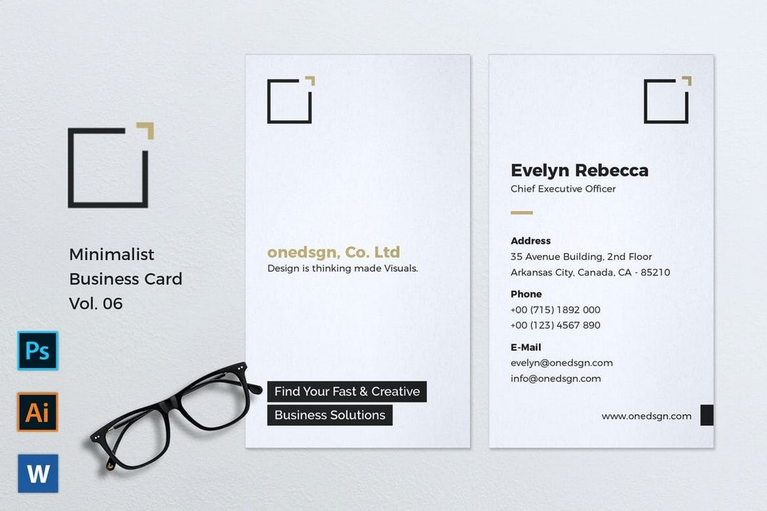 Simple-Business-Card-Template-for-Creatives 20+ Business Card Templates for Google Docs (Free & Premium) design tips