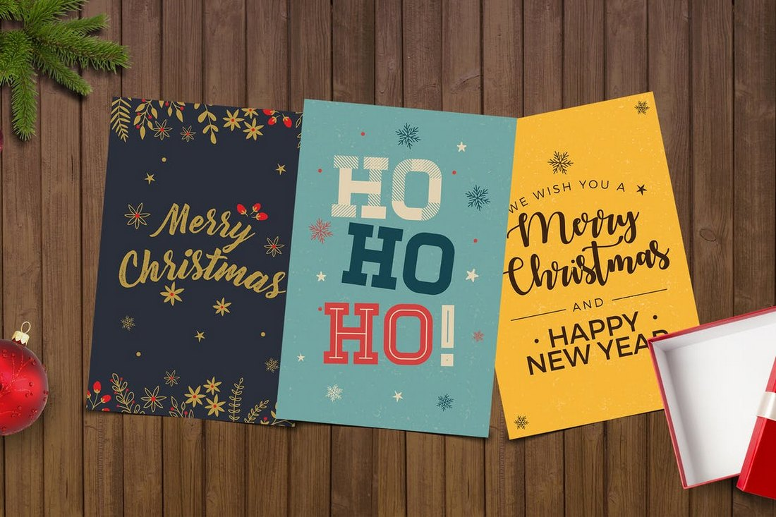 Simple-Christmas-Card-Templates 20+ Best Christmas Card Templates for Photoshop design tips