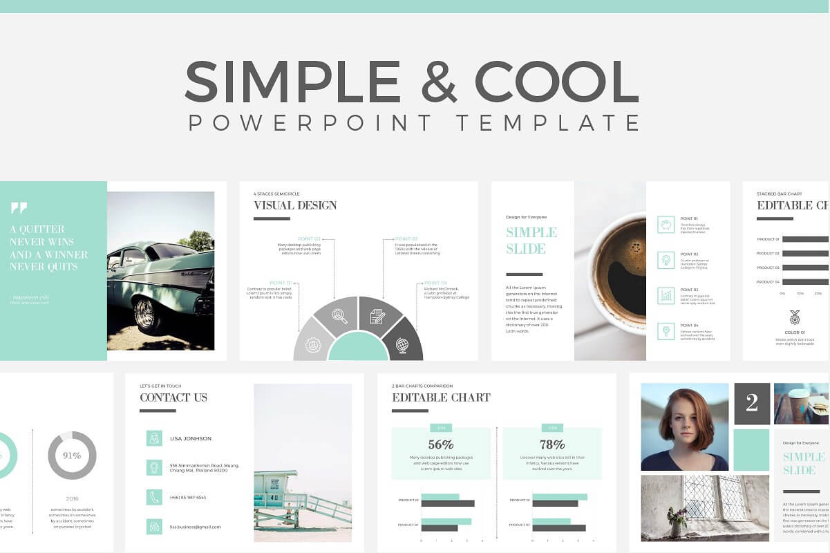 60 beautiful premium powerpoint presentation templates design simple cool powerpoint template