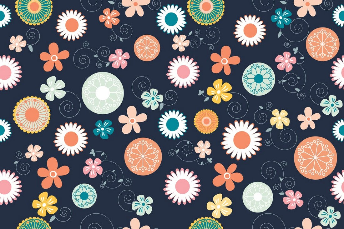 Simple Flower Pattern & Background