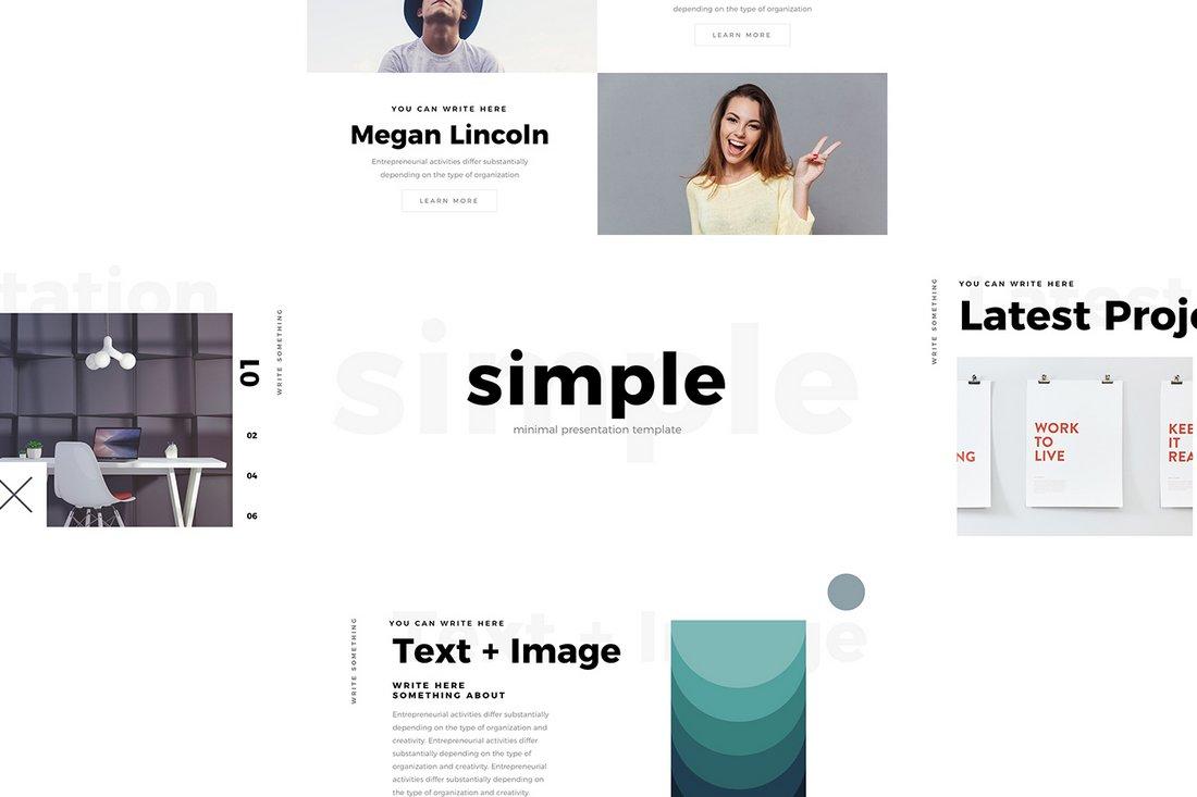 Simple - Free Minimal Keynote Template