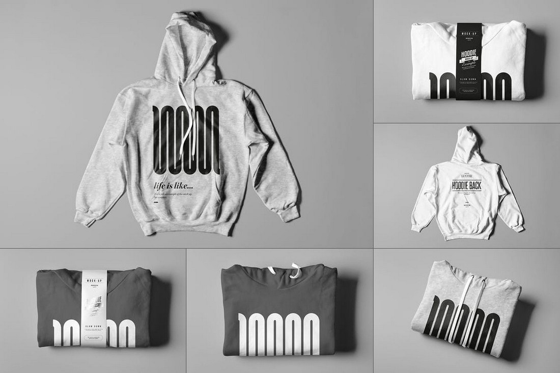 Simple-Hoodie-with-Folded-Mockups 20+ Hoodie Mockup Templates (Free & Premium) design tips  Inspiration