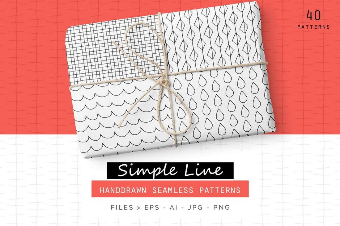 Simple-Line-Handdrawn-Patterns 30+ Best Line Patterns & Textures design tips