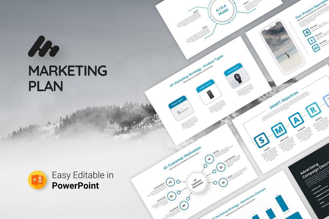 Simple Marketing Plan Presentation Template