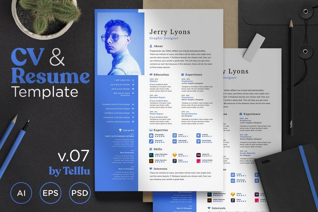 Simple-Minimalist-Resume-Template 50+ Best CV & Resume Templates 2020 design tips