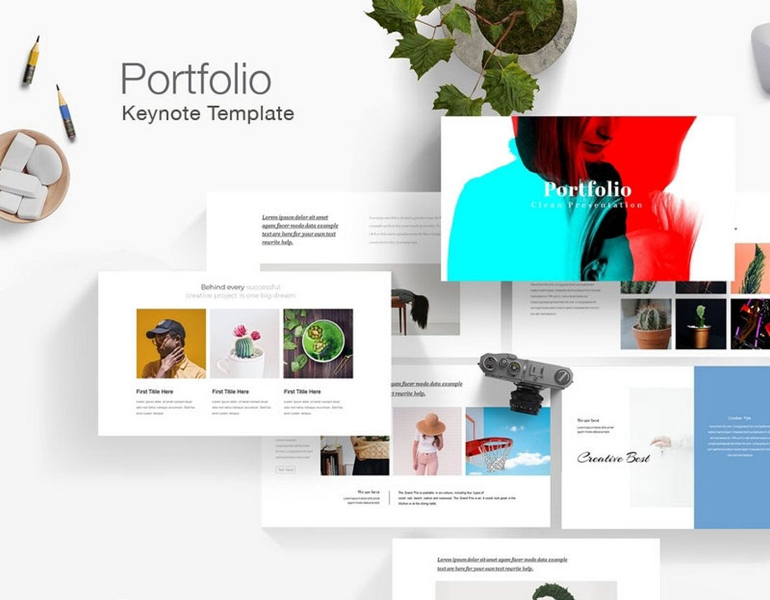 Simple Portfolio - Free Keynote Template