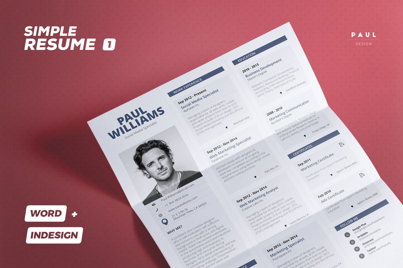 Simple-Resume-Cv 50+ Best CV & Resume Templates 2020 design tips