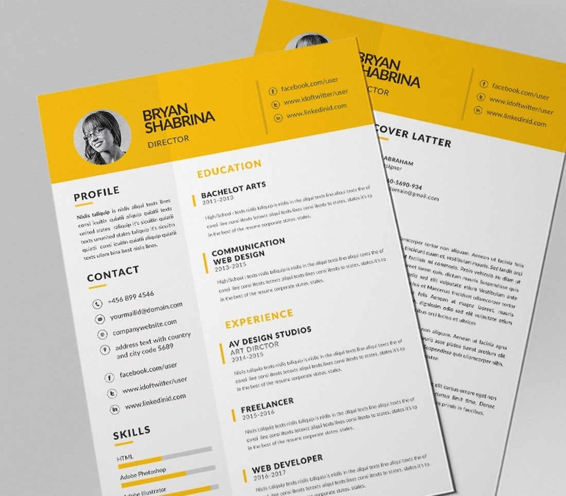 Simple-Resume-Design-Template 50+ Best CV & Resume Templates 2020 design tips