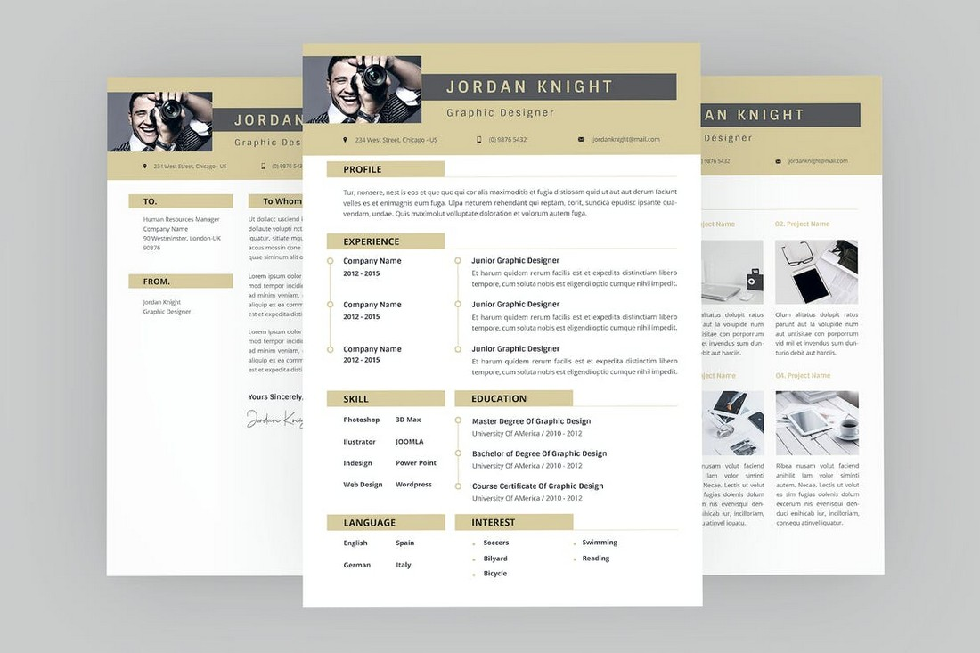 Simple Resume Template for Professionals