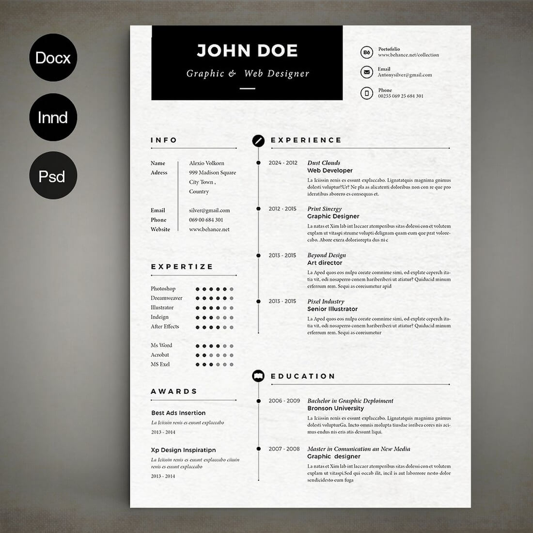 Wonderful 1 Page Resume Format Free Download Big 10 Envelope Template Regular 15 Year Old Resume Sample 18th Invitation Templates Old 1and1 Templates Brown2 Binder Spine Template The Best CV \u0026 Resume Templates: 50 Examples \u2013 Ok Huge