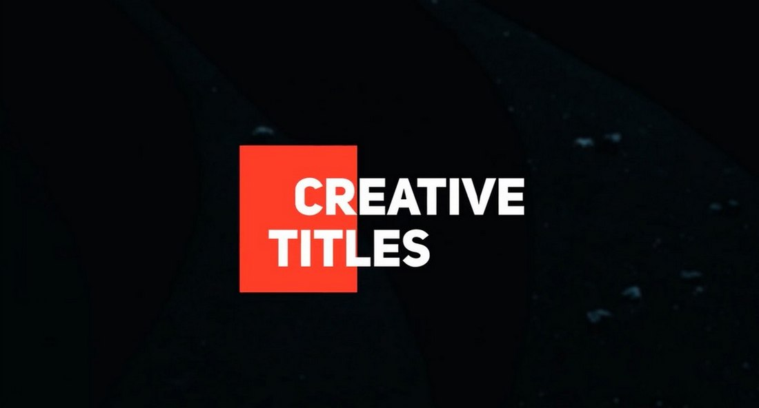 Simple Titles - Free After Effects Title Template