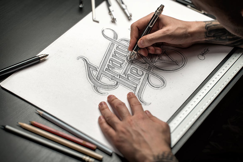 Sketch-Hand-Drawn-Mockup-Set 100+ Logo Mockup Templates (PSD & Vector) design tips