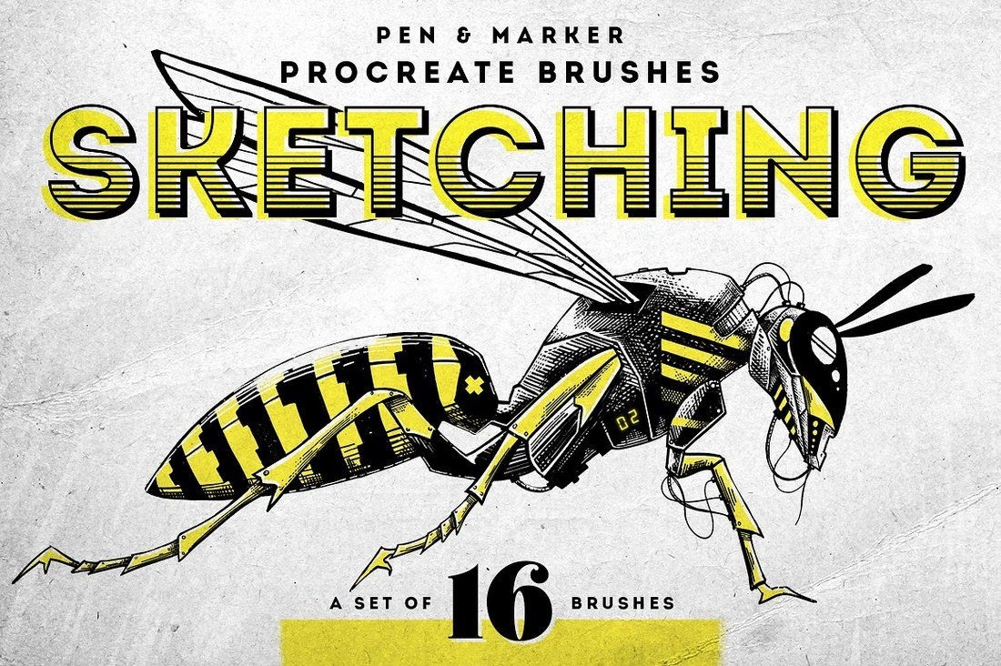 Sketching-Procreate-brushes 30+ Best Procreate Brushes design tips