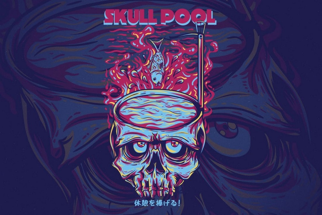 Skull-Pool 10+ Creative T-Shirt Design Ideas (How to Design a T-Shirt) design tips