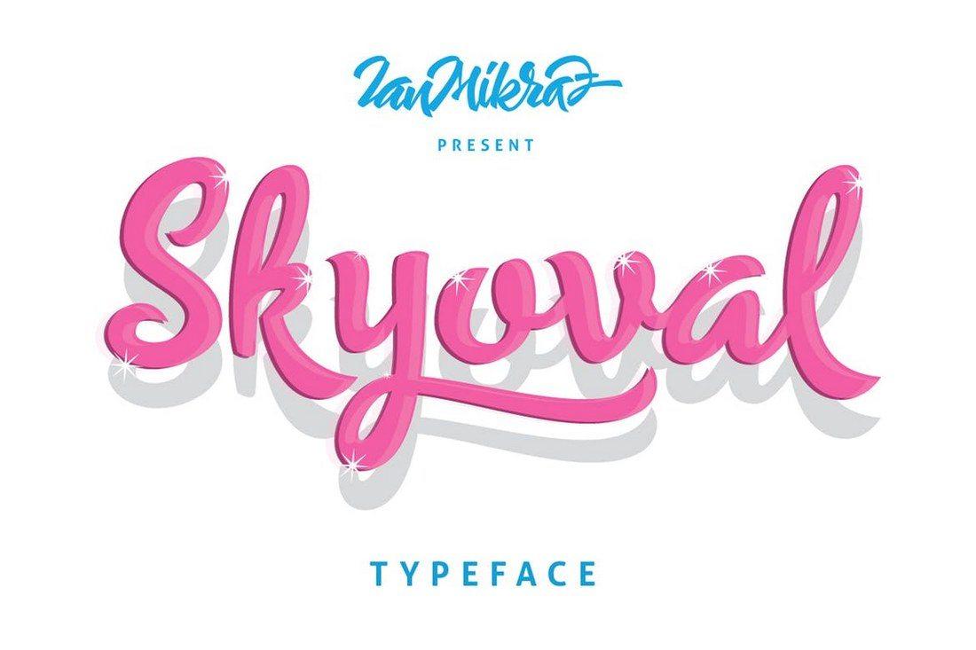 Skyoval-Typeface 30+ Best Hand Lettering Fonts design tips