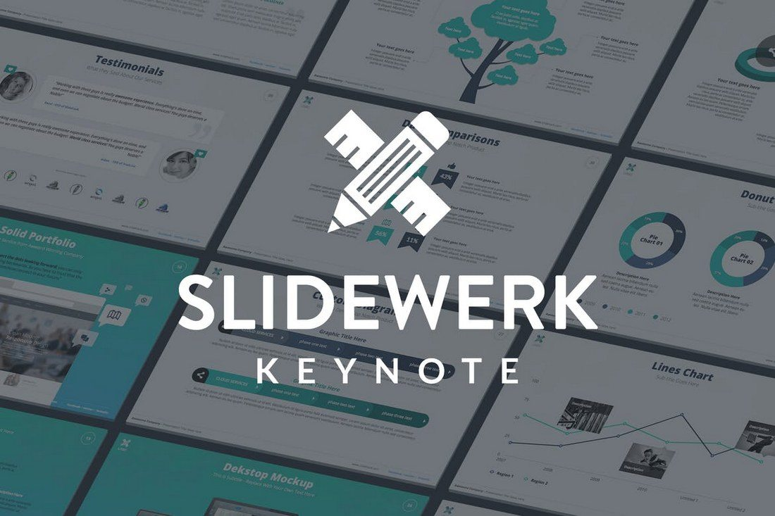 Slidewerk-Keynote-Template 30+ Best Minimal & Creative Keynote Templates design tips