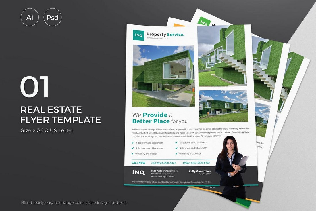 Slidewerk-Real-Estate-Flyer-01 30+ Best Real Estate Flyer Templates design tips  Inspiration|flyer|property|real estate
