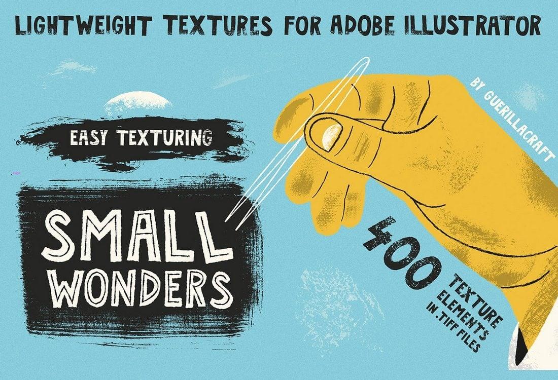 Small-Wonders-Free-Texture-Illustrator-Brushes 25+ Best Free Adobe Illustrator Brushes 2021 design tips