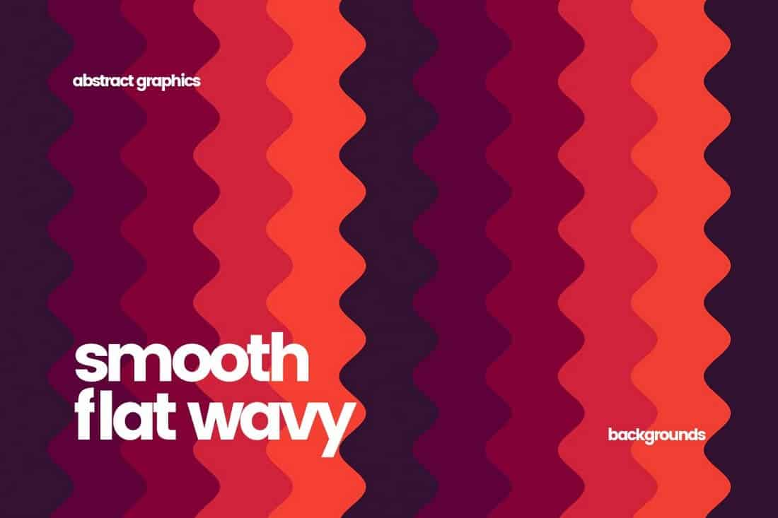 Smooth Flat Wavy Backgrounds
