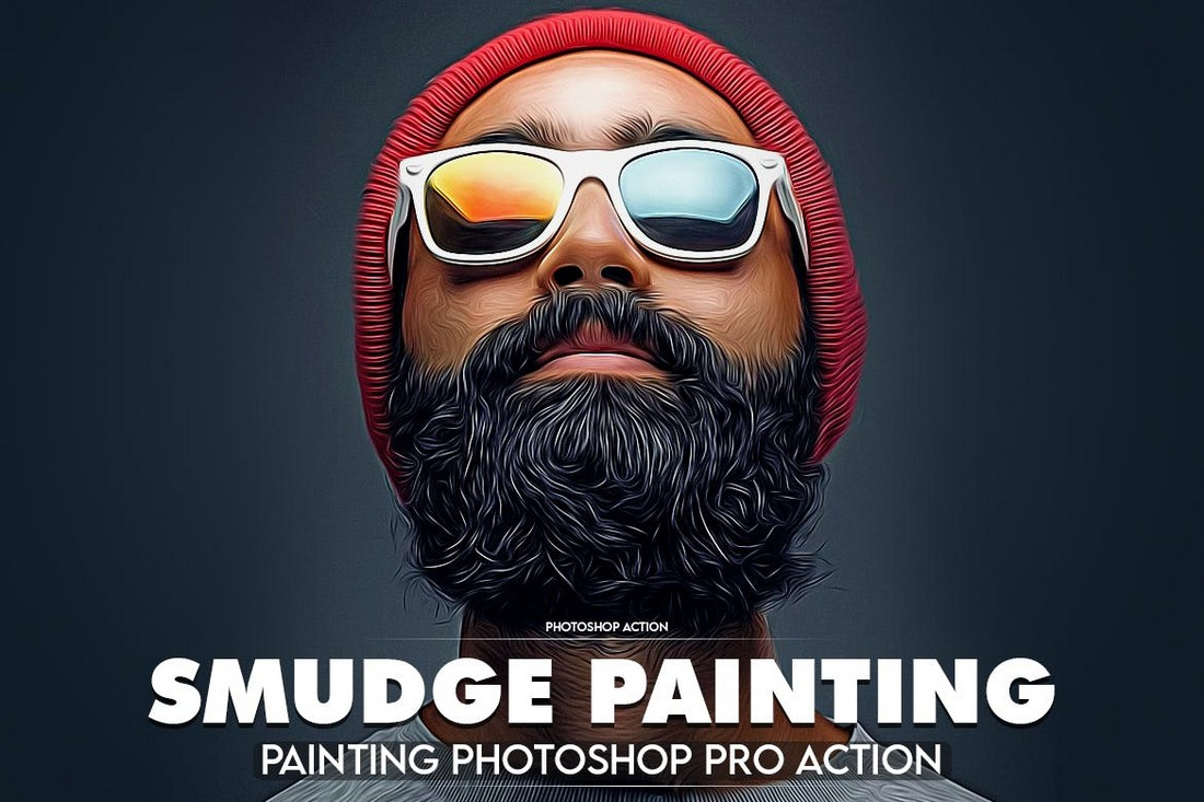 Smudge-Painting-Professional-Photoshop-Action 50+ Best Photoshop Actions of 2020 design tips