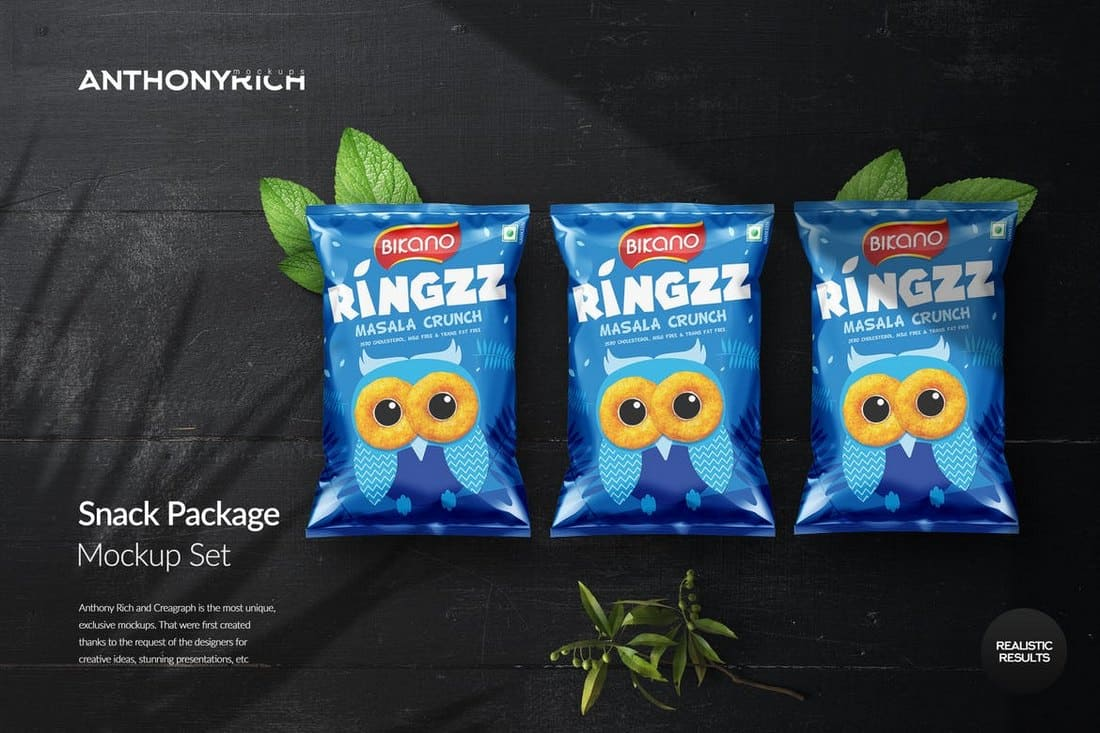 Snack Long Packaging Mockup