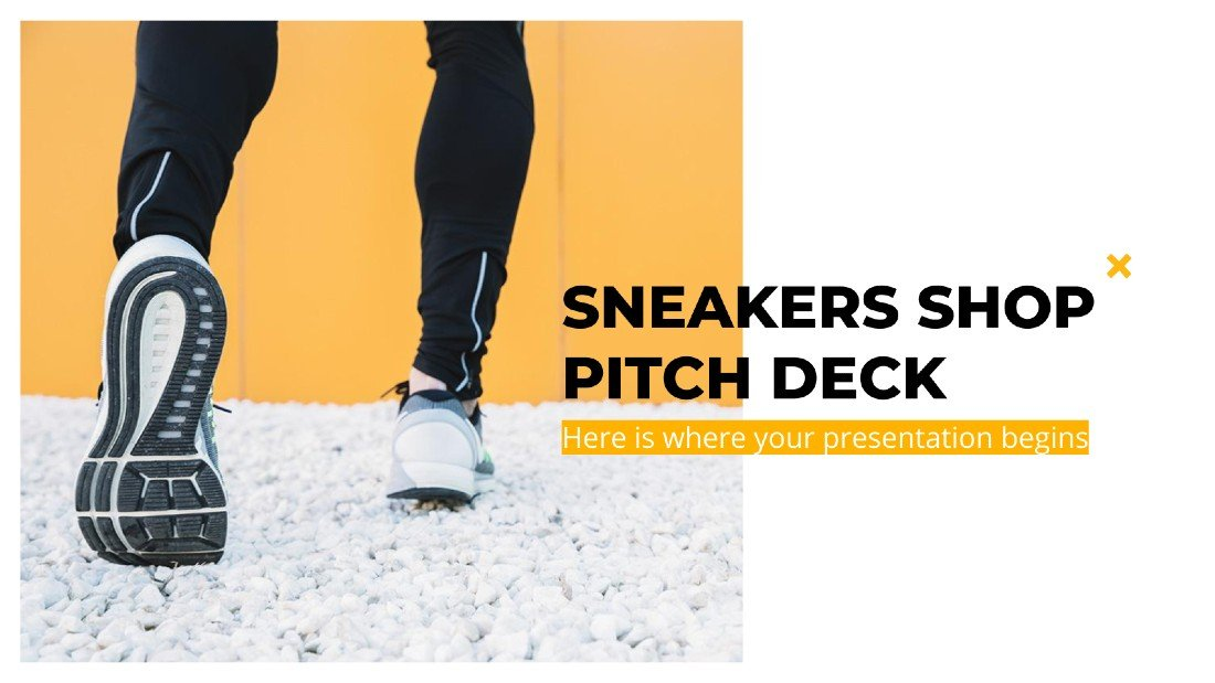 Sneakers Shop - PowerPoint Pitch Deck Template
