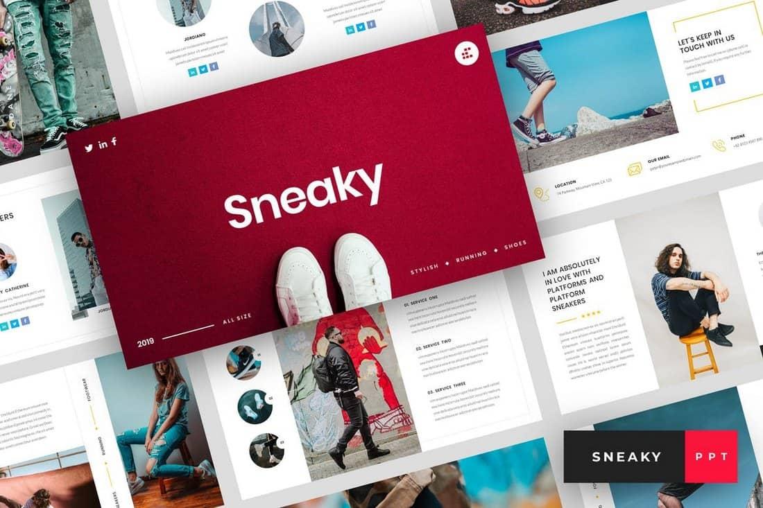 Sneaky - Sneakers PowerPoint Template