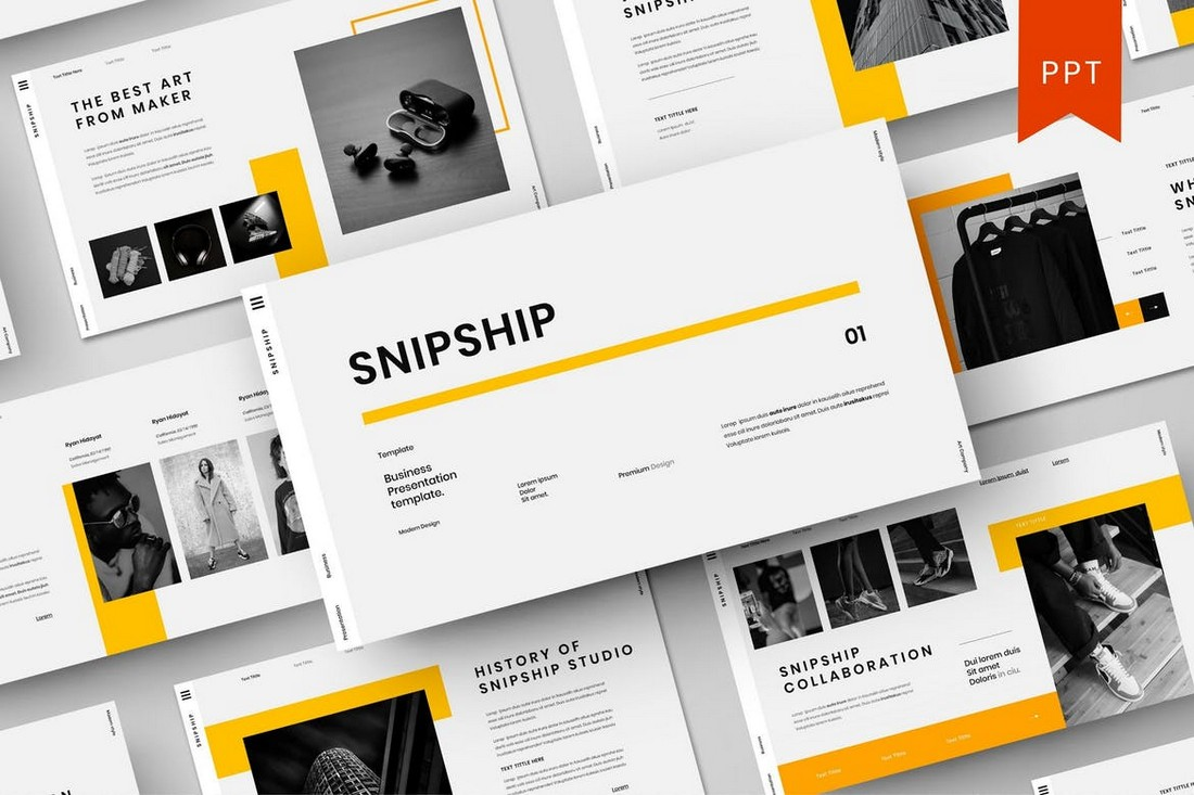 Snipship-–-Business-PowerPoint-Template 40+ Best Company Profile Templates (Word + PowerPoint) design tips