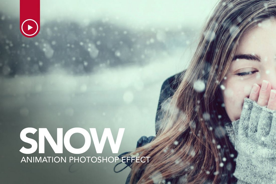 Snow-Animation-Photoshop-Action 15+ Christmas Photoshop Brushes, Actions & Text Effects design tips