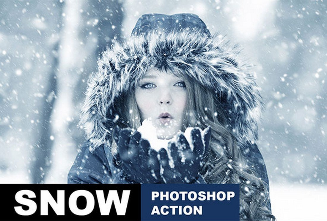 Snow-Effect-Photoshop-Action 15+ Christmas Photoshop Brushes, Actions & Text Effects design tips