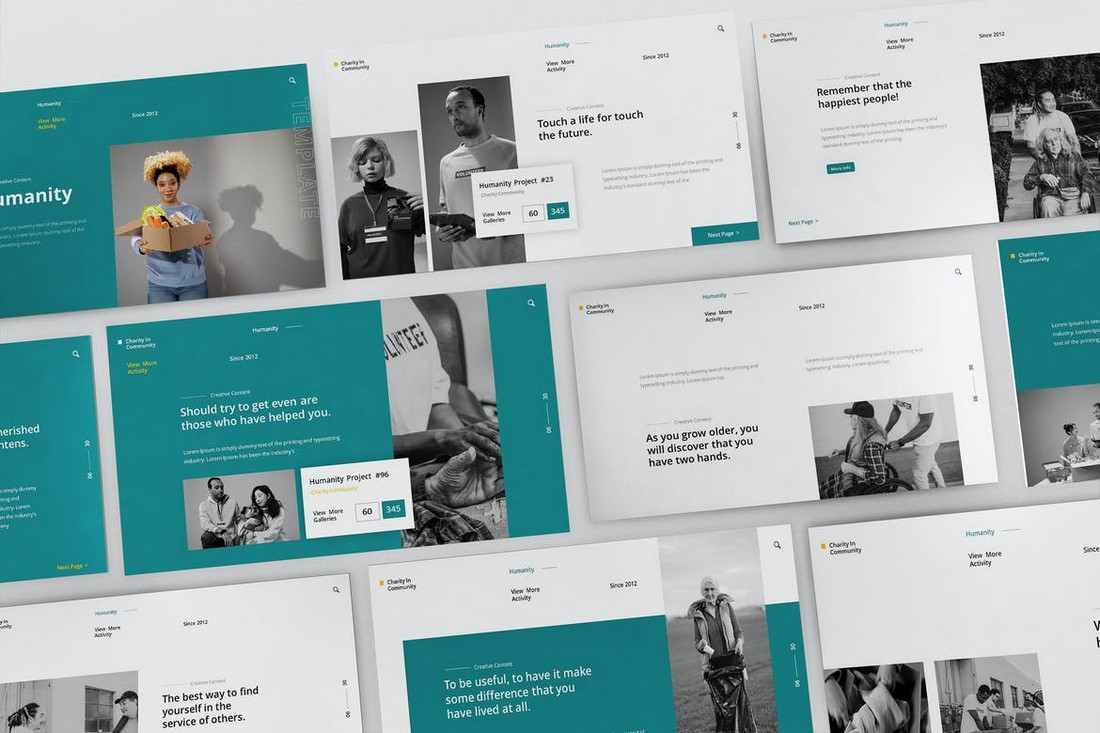 Social Humanity - Modern PowerPoint Template