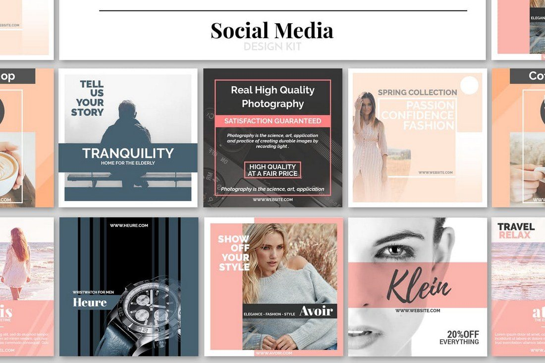Social-Media-Design-Kit 20+ Best Social Media Kit Templates & Graphics design tips