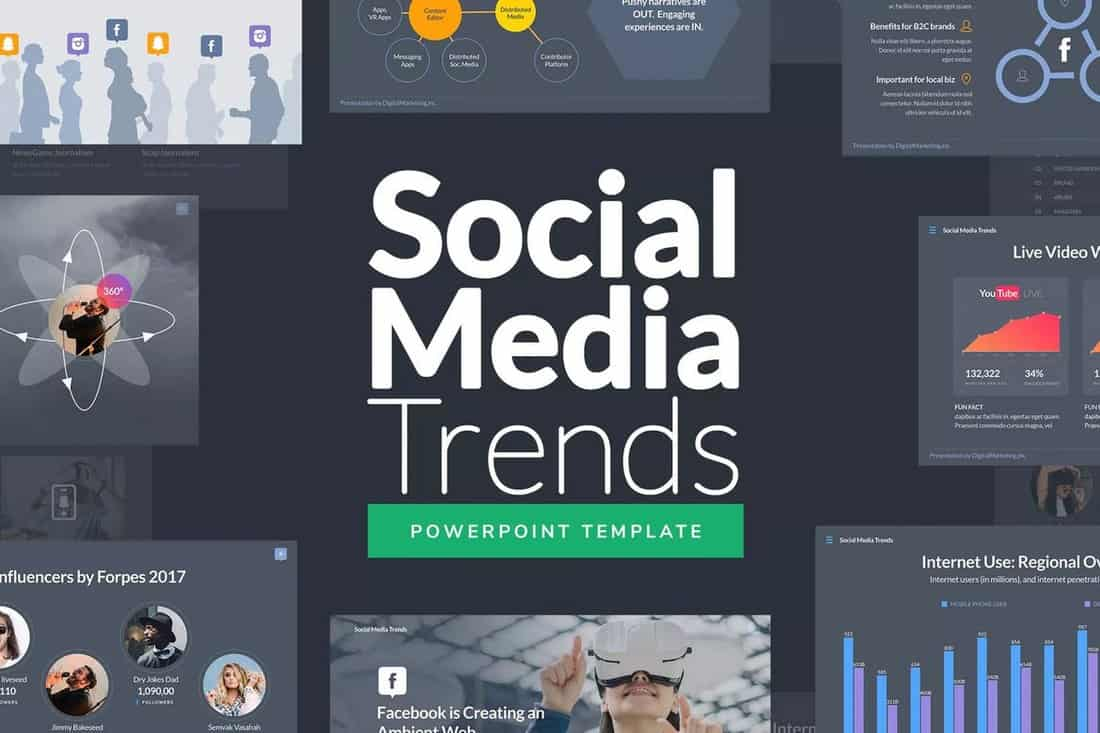 Social Media Trends Powerpoint Template