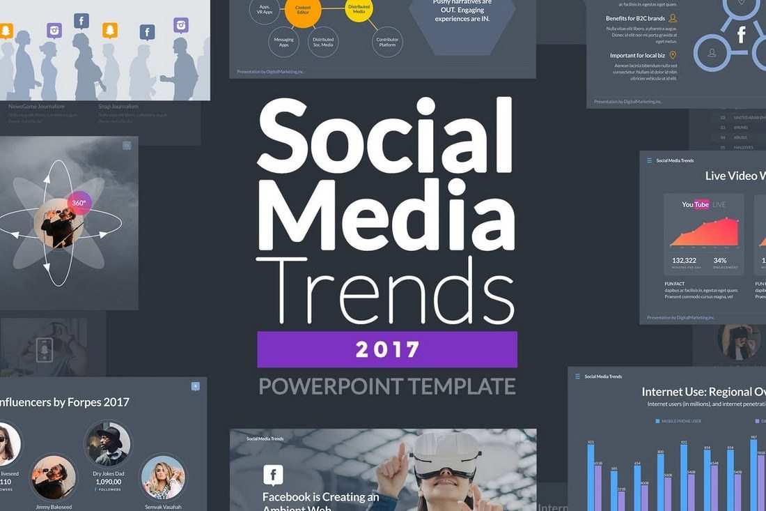 20 best powerpoint templates of 2018 design shack if youre working on a presentation related to digital marketing or social media strategies this powerpoint template is for you toneelgroepblik Gallery