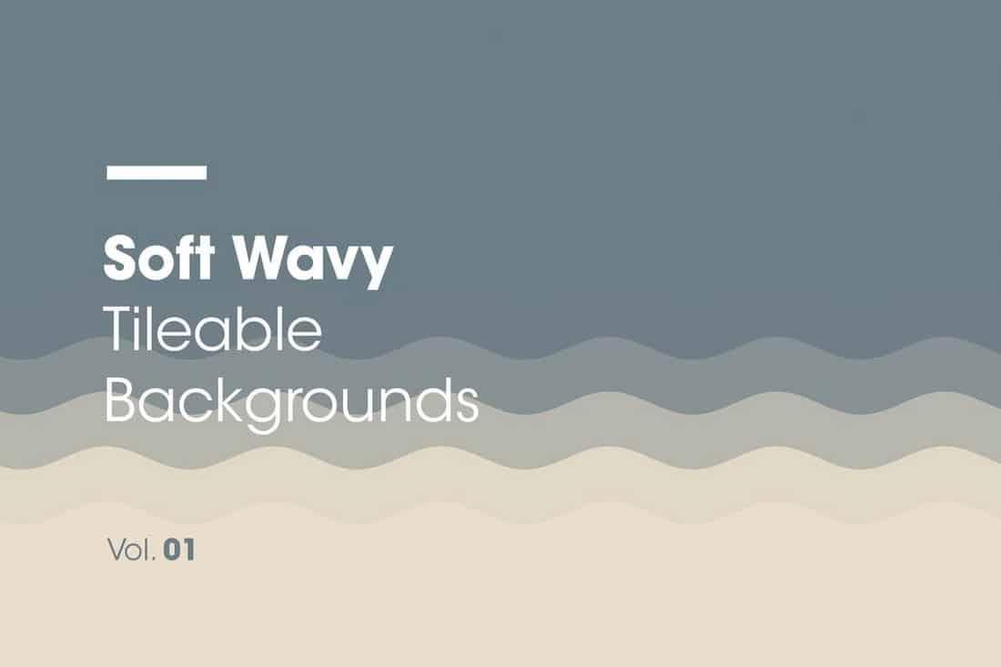 Soft Wavy Tileable Backgrounds Vol1