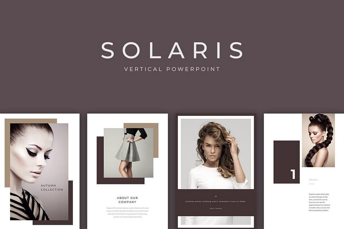 Solaris Vertical PowerPoint Print Template