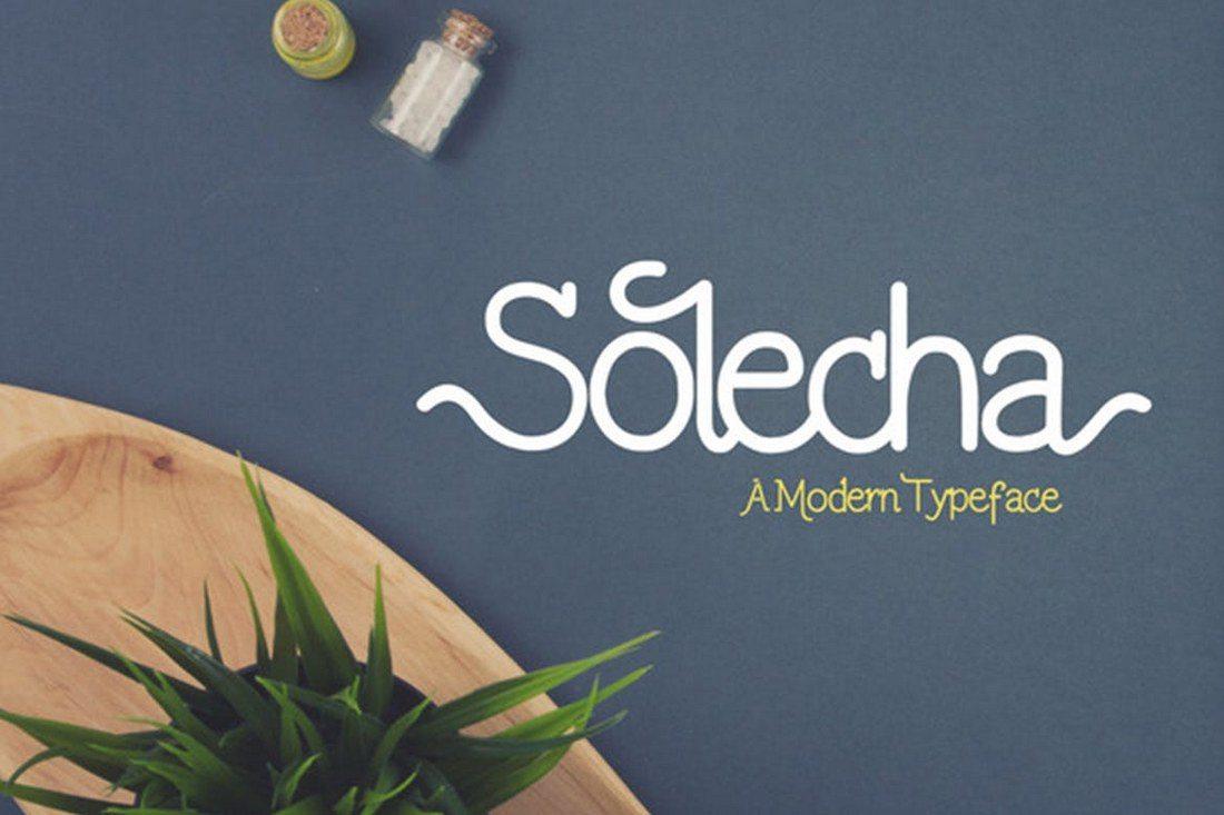 Solecha-Font 30+ Best Cursive & Script Fonts design tips
